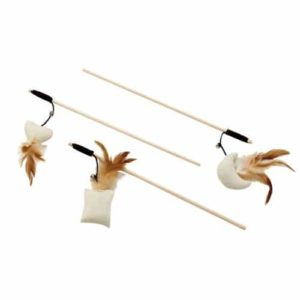Eco Friendly Natural Jute Shapes Teaser Wand Cat Toy